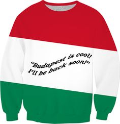 Custom Sweatshirt: Your fashionable, flamboyant Souvenir directly from Budapest proves: You travel the World, you are really not a couch potato!  Budapest, Hungary, Salami, Tokajer, fashion, travel, souvenir, holiday, gift, love, great, present, novelty, World, apparel, extra, OMG, BFF, couch potato, humour, gag, cool, Miniskirt, cover, cellphone, I-Phone, laptop, computer, mug, glas, kitchen, sexy, picture, wall, Christmas, birthday, Valentine's day, Easter, Halloween, music, Pin, Pinterest