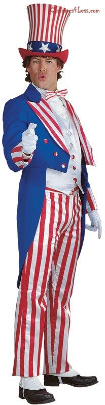 Fancy Dress American USA Bow Tie Uncle Sam Vote Stars Stripes 4th July Power