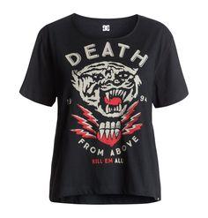 dcshoes, Tygurr - Cropped T-Shirt, BLACK (kvj0)