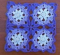 Lacy Flower Square ~Free Crochet Pattern.