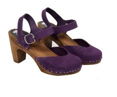 Ahhhhhhhh! HAVE to have these!!Uggleboclogs.com: Koltur Swedish Clogs in Purple Suede