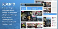 Overview Luxento is the flat and modern WordPress theme designed for establishing online newspapers, magazines or blogs. Always keeping updated with the latest web design trends, Luxento comes with...