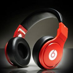 Beats By Dre Pro High-Performance Headphone White Red