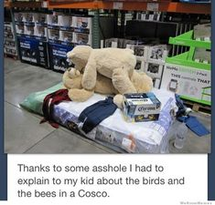Someone had nothing better to do than rearrange Costco merchandise apparently, lol