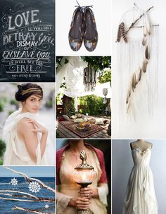 Bohemian wedding inspiration - favourite picture is the draped lounge area in the middle