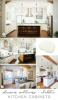Sharing the best paint for cabinets and Joanna's favorite kitchen cabinet paint colors for farmhouse style kitchens | www.theharperhouse.com