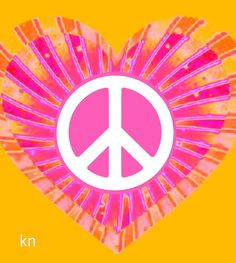 ✌Peace Sign in ♥Heart♥ .Peace and Love __[Peace sign Art by KN] Hippie Peace, Happy Hippie, Hippie Love, Hippie Art, Peace Poster, Peace Sign Art, Peace Signs, Peace On Earth, World Peace