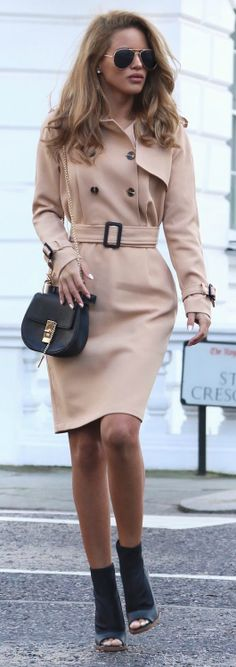 #fashion #outfits #winter Stylish trench coat Few Moda + pair of heeled boots + Via Nada Adelle.  Trench: Few Moda, Ankle Boot: Asos, Bag: Yesstyle. Cute Winter Outfits.