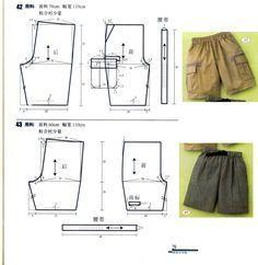 Sewing Pants, Sewing Clothes, Diy Clothes, Diy Pantalon, Pantalon Cargo, Kids Patterns, Sewing Patterns Free, Clothing Patterns, Men's Clothing