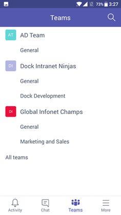 Microsoft Teams Mobile App Screen 3