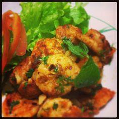 Spicy masala prawns...indian style