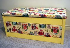 DIY: Upholstered Toy Chest