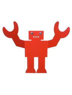 Albert - Kleine robot die je elke dag begroet! Hij is ook bereid om je zware spullen vast te houden! Laser gesneden uit plaatwerk. Materiaal : gerecycled gepoedercoat plaatwerk Afmetingen: 24 x 35 cm (HxW)