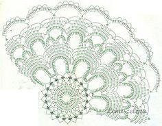 Gallery.ru / Фото #74 - Круглые-3 - Lena-zelena Crochet Books, Crochet Home, Crochet Granny, Filet Crochet, Knit Crochet, Crochet Doily Patterns, Crochet Diagram, Crochet Doilies, Crochet Scarves