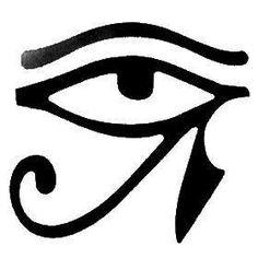 Olho de Hórus É outro antigo símbolo egípcio. Representa o olho divino do deus Hórus, as energias solar e lunar, e freqüentemente é usado para simbolizar a proteção espiritual e também o poder clarividente do Terceiro Olho.