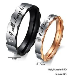 "'""I Will Always Be With You"" Titanium Couple Rings' is going up for auction at  9am Sun, Feb 10 with a starting bid of $3."