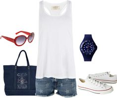 """Red, White and Blue"" by mmessenger on Polyvore"