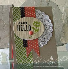 by Julie Marshall, Stamping Impressions: Oh, Hello