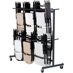Folding Chair Storage Cart | Http://jensenackles.us | Pinterest | Storage  Cart, Folding Chairs And Storage