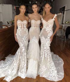 63 Ideas Berta Bridal Gowns Belle For 2019 Sexy Reception Dress, Elegant Wedding Dress, Dream Wedding Dresses, Bridal Dresses, Wedding Gowns, Bridesmaid Dresses, Lace Wedding, Wedding Ceremony, Trumpet Wedding Dresses