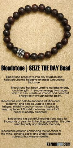 Bloodstone brings love into any situation and helps ground the negative energies surrounding that issue. #Bloodstone has been used to increase #energy and strength.  #Love #Beaded #Bracelet #Yoga #Chakra #Mala #Stretch #Meditation #handmade #Jewelry #Energy #Healing #Crystals #Stacks #pulseiras #Bijoux #Handmade #Reiki #Mala #Buddhist #Charm #Mens #Womens….