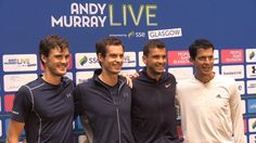 nice Andy Murray Pre-Match Press Conference Ahead Of 'Andy Murray Live' Event At The SSE Hydro In Glasgow