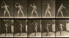 "Eadward Muybridge: Tennis Player 1887 (from ""Animal Locomotion"")"