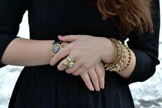 Dresse watch, rings, bracelets