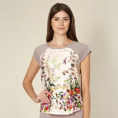 4375d2a0f B by Ted Baker Beige floral garden print pyjama top