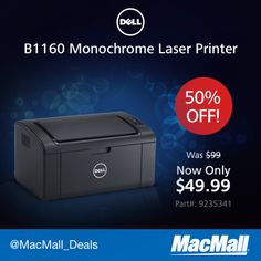 Save $50 on this #Dell 21ppm mono laser printer. #DailyDeal