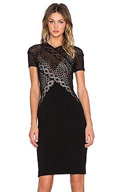Lover Linear Midi Dress in Black