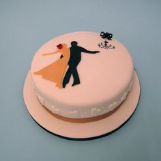 #Ballroom Dance Cake   #Wedding Anniversary Cake  http://www.dancingfeeling.com/