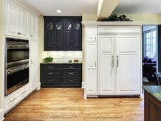 LOVE SMALL AREA LIKE COFFEE BAR AREA IN ANOTHER COLOR!         Traditional Kitchen - Kitchen Cabinet Inspirations on HGTV