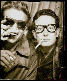 Waylon Jennings and Buddy Holly