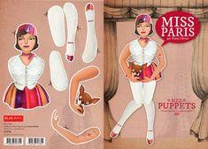 Fanny Cheval - Puppets http://www.blueart.fr/francais/carte-a-decouper-mes-puppetts-miss-paris-par-fanny-cheval.html