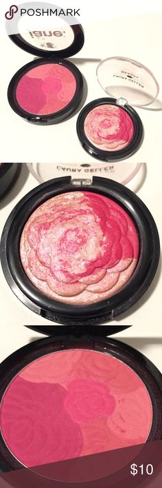 "Laura Geller beauty Baked gelato blush cheek Set of 2 items: •Laura Geller Baked gelato vivid flower blush in "" PINK DAHLIA "" very shimmery / sparkly. Pretty color swirl so you can create endless the pink color you want! About 90% full, loads left. •Jane blush in "" berry banquet "" tried once and cleaned  ⭐️ bundle to save $ & shipping costs!! ⭐️ Laura Geller Makeup Blush"