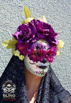 A. Purpurea Day of the Dead Dia de Los Muertos by BLINGOutYourDead