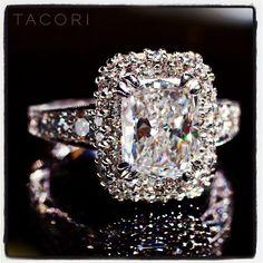 Loving this emerald-cut Tacori! WOW!