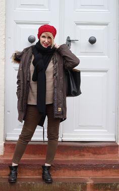 A fashion blog for women over 40 and mature women Parka: True Religion Sweater: Edelziege Scarf: Neyo-Fashion Pants: Zara Bag: Chloé   Booties: Fiorentini Baker  http://www.glamupyourlifestyle.com/