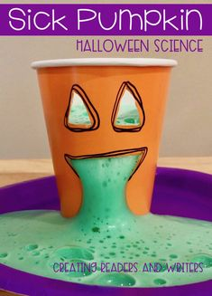 This fun, hands-on science set includes 5 Halloween activities kids LOVE, from sick pumpkins to magic mummies and more! The investigations are standards-based and cover. Kid Science, Kindergarten Science, Science Experiments Kids, Science Classroom, Science Lessons, Teaching Science, Science Projects, Physical Science, Science Halloween