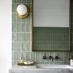 Modern Bathroom Design Ideas With Go Green Concept Downstairs Bathroom, Bathroom Renos, Bathroom Furniture, Small Bathroom, Bathroom Green, Bathroom Ideas, Modern Bathroom Design, Bathroom Interior Design, Vintage Bathrooms