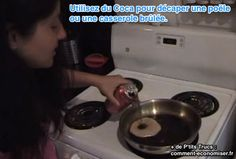 Nettoyer et récupérer une casserole ou une poêle brûlée avec du Coca cola (et 14 autres utilisations surprenantes) Coca Cola, Casserole En Fonte, Tips & Tricks, Natural Cleaning Products, Coke, Homemade, 20 Minutes, Bio, Simple