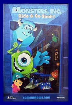 #attraction_poster #TOKYO_DISNEY_LAND #Monsters_inc #東京ディズニーリゾート ポスター