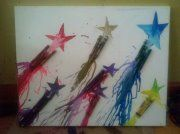 Shooting for the stars...A lil twist on melting the crayons