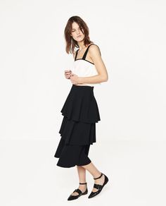 Image 1 of LONG SKIRT WITH FRILLS from Zara