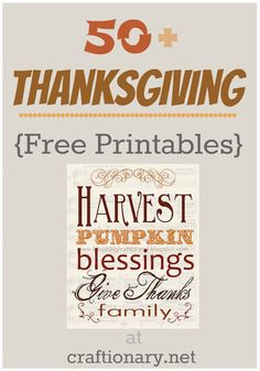 Thanksgiving printable ideas