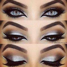 Day Eye Makeup, Blue Eye Makeup, Prom Makeup, Smokey Eye Makeup, Wedding Makeup, Makeup Eyeshadow, Eyeshadow Palette, Shimmer Eyeshadow, Smokey Hair