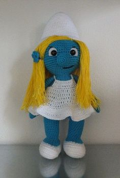 Smurfette, crochet amigurumi, 1 pc