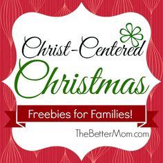 HUGE list!!! With the Christmas season upon us many families are seeking to keep Christ the center and meaning of this time of year. Today we have gathered a list of Nativity and Advent themed freebies and activities to spur on your family celebrations!