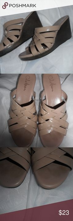 Cole Haan Beige Wedge Nice shoes with minimal wear. Cole Haan Shoes Wedges